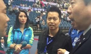 คลิปนักข่าวไทยถูกการ์ดจีนต่อย