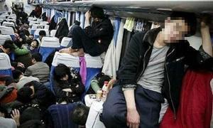 รวมภาพบนรถไฟของจีนที่เค้าว่าแออัดที่สุด