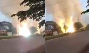 คลิประทึก หม้อแปลงระเบิดไฟลุก 5 กม. เผาบ้าน 10 หลัง