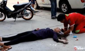 ดวงแข็ง! สาวน้อยใจแฟนโดดตึกฆ่าตัวตาย โชคดีแค่เจ็บ