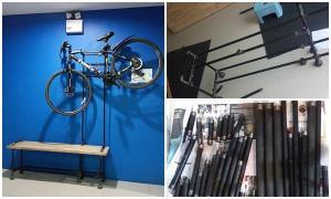 DIY : ม้านั่งแขวนจักรยาน industrial style ให้หลานรัก