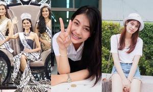 น้ำตาล Miss Universe Thailand ลุคใสๆ ในชุดนักศึกษา