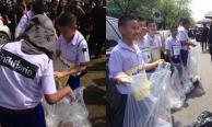 นักเรียนและลูกเสือกองร้อยพิเศษโรงเรียนอัสสัมชัญ ร่วมกันทำความดีเพื่อพ่อ