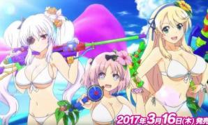 เต็มอกกับอนิเมชั่นเปิดตัวเกม Senran Kagura: Peach Beach Splash