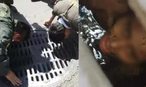 หนุ่มปริศนาติดในท่อระบายน้ำ กลางถ.วิภาวดี กู้ภัยช่วยระทึก