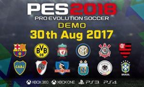 Konami ปล่อย Demo PES 2018 ให้เล่นกันปลายเดือนนี้ ทีมดังเพียบ!
