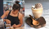 ศิลปะบนแก้กาแฟ ผลงานของบาริสต้าวัยรุ่นสาวชาวสิงคโปร์