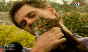 สุดซึ้ง! แมวฮีโร่ช่วยเจ้าของรอดตายจากไฟไหม้บ้าน