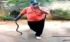 กู้ภัยพลาดโดนงูเห่าปลวกฉก อาการโคม่า