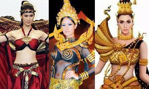 พัฒนาการ ชุดประจำชาติไทย สวย โดดเด่น บนเวที มิสยูนิเวิร์ส